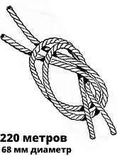 Канат: швартовый, синтетический (полипропиленовый), диа 68 мм, длина 220 метров