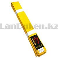 Пояс для кимоно Chikara желтый 260 cм