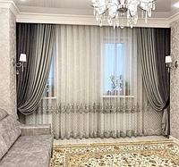 Пошив штор для гостинной