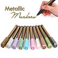 Набор Металликовых маркеров STA 10 шт.