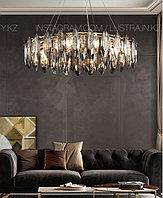 Люстра хрустальная в американском стиле, на 8 ламп, цвет золото
