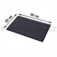Грязезащитный придверный коврик на резиновой основе 80х50 см серый