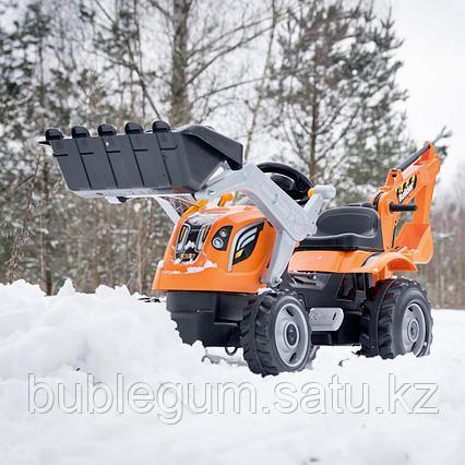 Трактор педальный строительный с 2-мя ковшами и прицепами Smoby