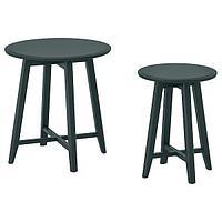 Комплект столов КРАГСТА 2 шт темный сине-зеленый ИКЕА, IKEA