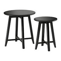 Комплект столов КРАГСТА 2 шт   черный ИКЕА, IKEA