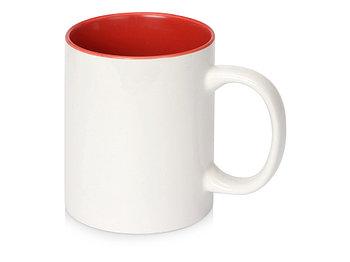 Кружка Sublime Color XL для сублимации 440мл, белый/красный