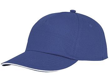 Пятипанельная кепка-сендвич Styx, синий