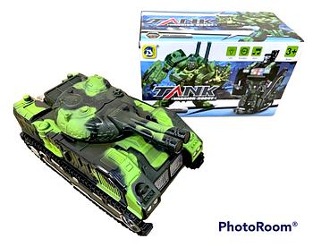 9901 Танк трансформер на батар Tank warior robot 20*12см
