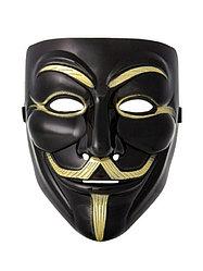 Маска Анонимуса черная (Гая Фокса)
