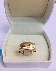 Кольцо мужское / красное золото - 20 размер