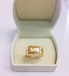 Кольцо мужское / красное золото - 21,5 размер
