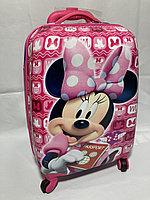 Детский дорожный чемодан на 4-х колесах, ABS-пластик. Высота 46 см, ширина 30 см, глубина 21 см., фото 1