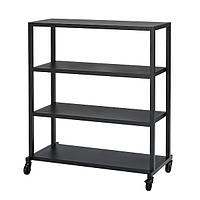 Стеллаж на колесах РОВАРОР черный 100x115 см ИКЕА, IKEA