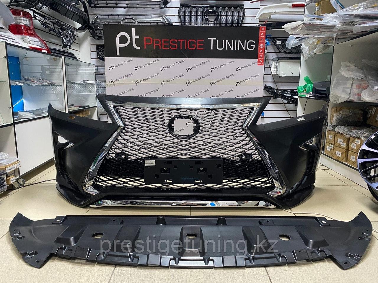 Передний бампер в сборе на Lexus RX 2009-15 дизайн 2016