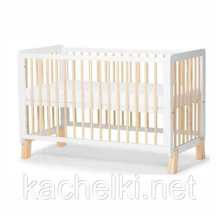 Детская кроватка Kinderkraft 🇪🇺 с матрасом LUNKY White + матрас