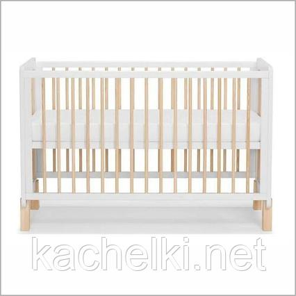 Детская кроватка Kinderkraft 🇪🇺 с матрасом NICO White