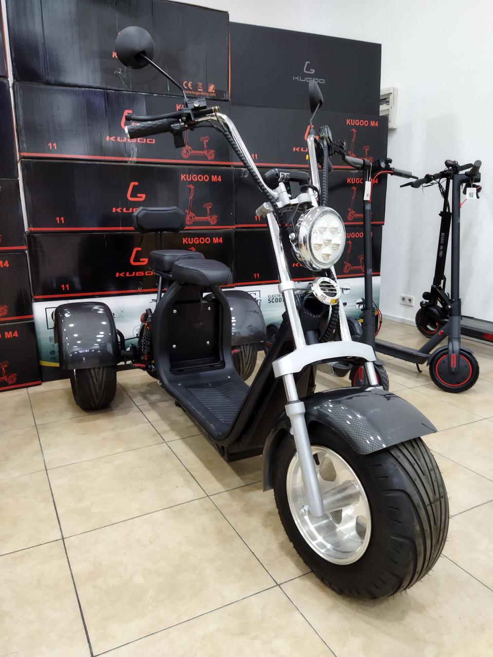 Электробайк City Coco 3 х колесный Полная комплектация с титановыми дисками. Электросамокат.