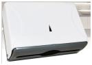 Диспенсер для бумажных полотенец Z укладка белый пластик, фото 2