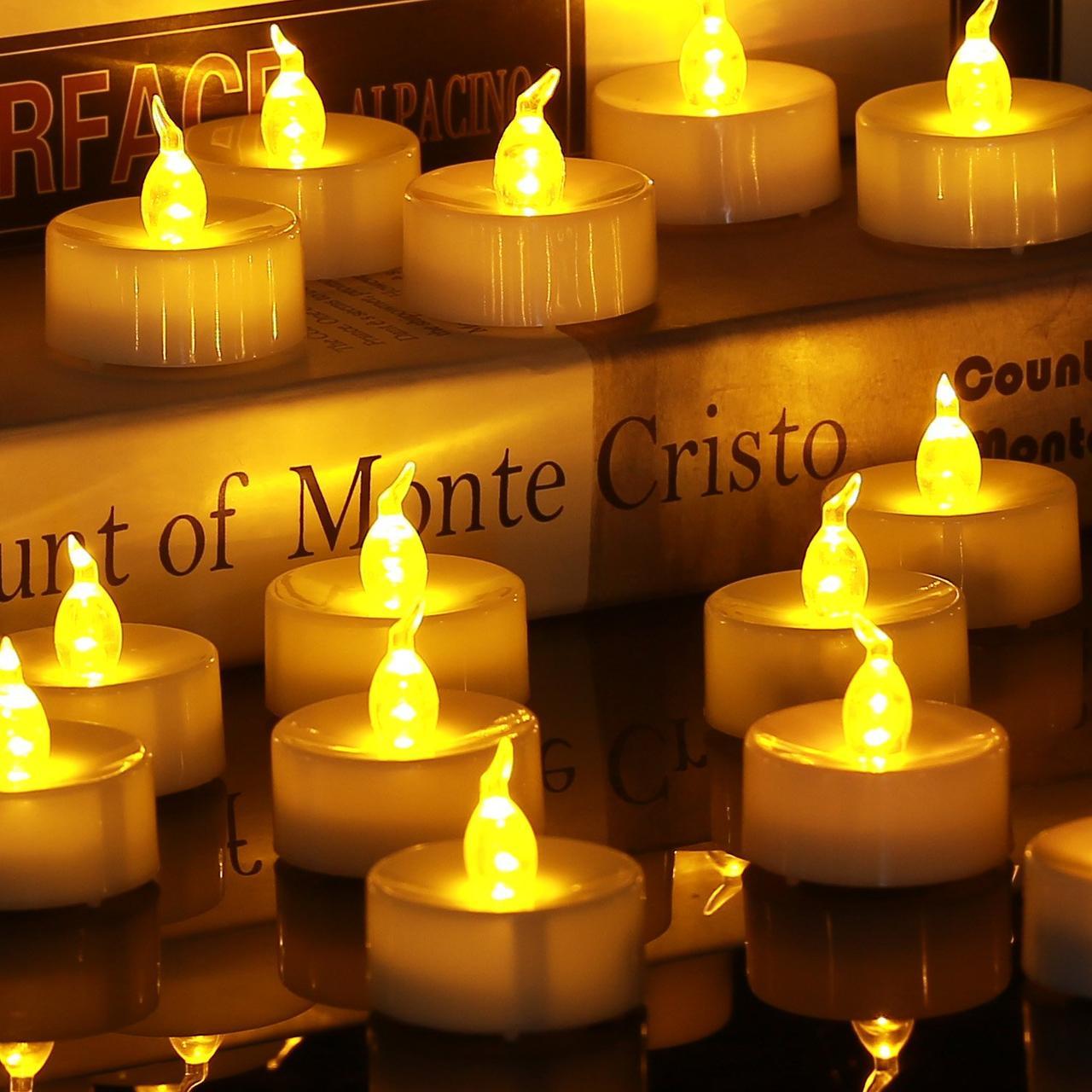 Светодиодная свеча с имитацией пламени.