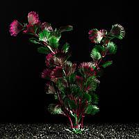 Растение искусственное аквариумное фиолетовое  4х 20 см