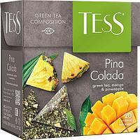 Чай TESS Pina Colada зеленый, пирамидки, 1,8гр*20пак