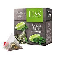 Чай TESS Ginger Mojito зеленый, пирамидки, 1,8гр*20пак