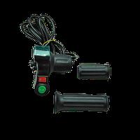 Ручка газа (половинка) с вольтметром и кнопками
