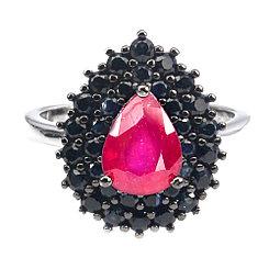 Кольцо с натуральными Рубином и Сапфирами. Комплект