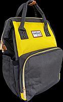 """Сумка - рюкзак для мамы """"Naiso"""", черный/желтый (Unicare, Япония)"""