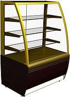 Кондитерская холодильная витрина Carboma ВХСв - 0,9д Люкс 0+7
