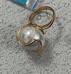 Кольцо бижутерия размер кольца 17.
