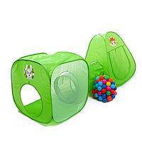 Игровой набор - детская палатка с тоннелем и шариками 'Давай играть'