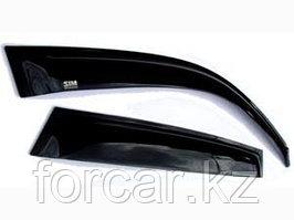 Дефлекторы окон SIM для MAZDA 6 седан, 2008 - , темные,хром, на 4 двери