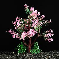 Растение искусственное аквариумное розовое дерево 15 см