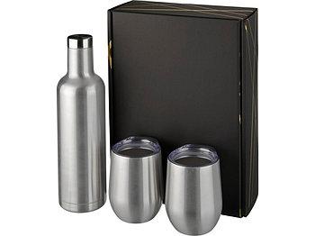 Подарочный набор из медных предметов с вакуумной изоляцией Pinto и Corzo, серебристый