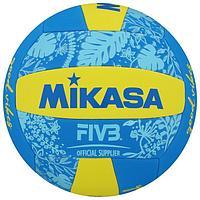 Мяч волейбольный пляжный MIKASA BV354TV-GV-YB, синтетическая кожа (ТПЕ), машинная сшивка, 18 панелей,