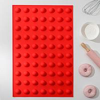 Форма для выпечки 'Шарики', 56,5x37x2 см, 70 ячеек (d2,8 см), цвет МИКС