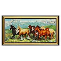 Картина 'Лошади в горах' 75х38 см 208 рамка МИКС