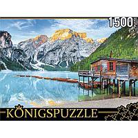 Пазлы 1500 элементов 'Италия. Озеро Брайес в Альпах'