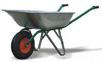 Тачка садовая, грузоподъемность 120 кг, объем 58 л.