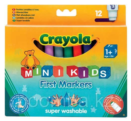 Фломастеры 12 цветных для малышей (от 1 года)8325 CRAYOLA