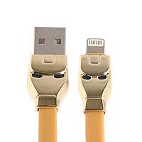 Кабель Hoco U14, Lightning - USB, 2.4 А, 1.2 м, золотистый