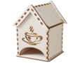 """Домик для хранения чая, деревянный """"Банные штучки"""" /20"""