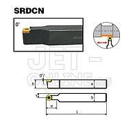 Резец со сменными пластинами (державка) для наружной токарной обработки 25x25 мм