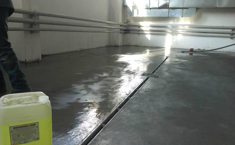 Антискользящая пропитка для бетона