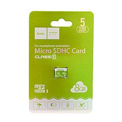Карта памяти Micro SD 8Gb class 10 Hoco