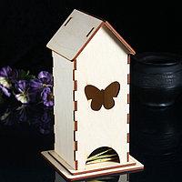 Заготовка для декупажа 'Чайный домик 'Бабочка' 13 х 13 х 24 см