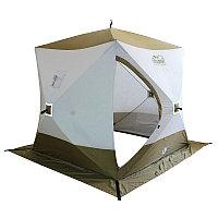 Палатка зимняя КУБ СЛЕДОПЫТ PREMIUM 3-х слойная 210х210см