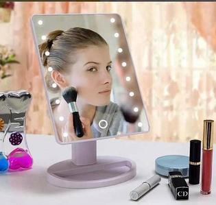 Зеркало косметическое для макияжа с LED подсветкой Magic Makeup Mirror (Белый)