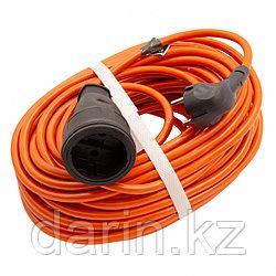Удлинитель-шнур силовой 20 м, 16А, тип УХ16, ПВС, усиленный, 1 розетка без заземления Сибртех